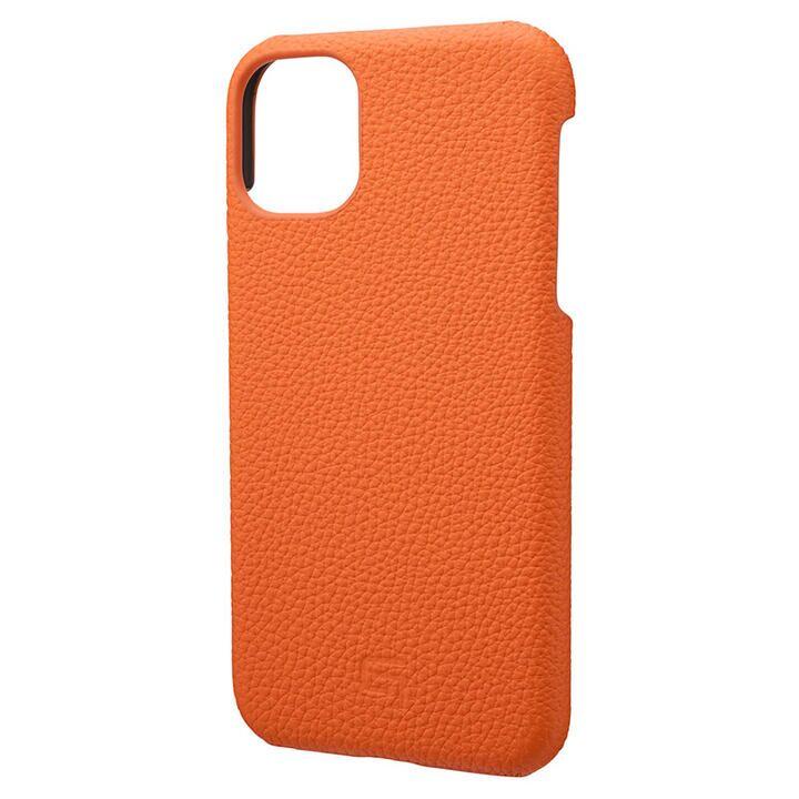 iPhone 11 ケース GRAMAS Shrunken-calf レザー背面ケース オレンジ iPhone 11_0