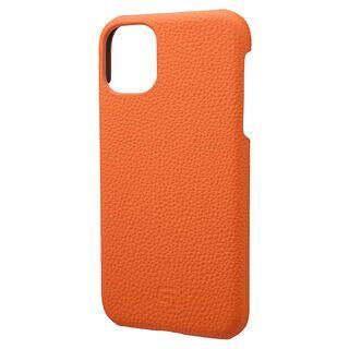 iPhone 11 ケース GRAMAS Shrunken-calf レザー背面ケース オレンジ iPhone 11