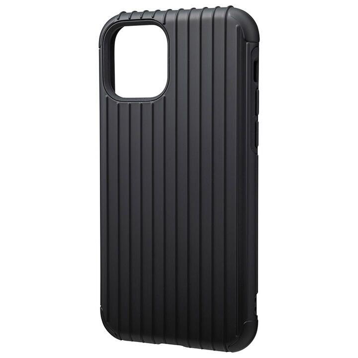 GRAMAS COLORS Rib ハイブリッドシェルケース ブラック iPhone 11 Pro_0