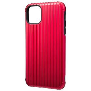 iPhone 11 Pro Max ケース GRAMAS COLORS Rib ハイブリッドシェルケース レッド iPhone 11 Pro Max