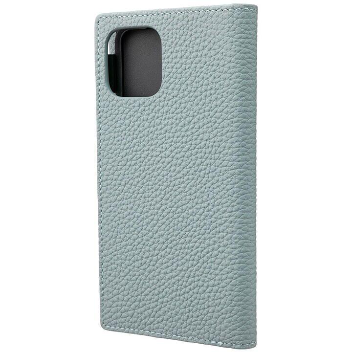 GRAMAS Shrunken-calf レザー手帳型ケース ベイビーブルー iPhone 11 Pro_0