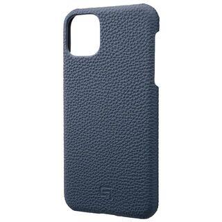 iPhone 11 Pro Max ケース GRAMAS Shrunken-calf レザー背面ケース ネイビー iPhone 11 Pro Max