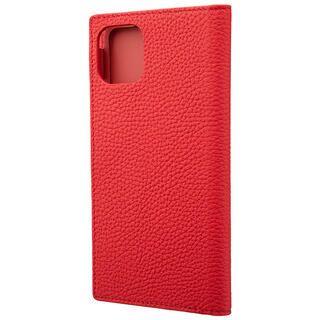 iPhone 11 Pro Max ケース GRAMAS Shrunken-calf レザー手帳型ケース レッド iPhone 11 Pro Max