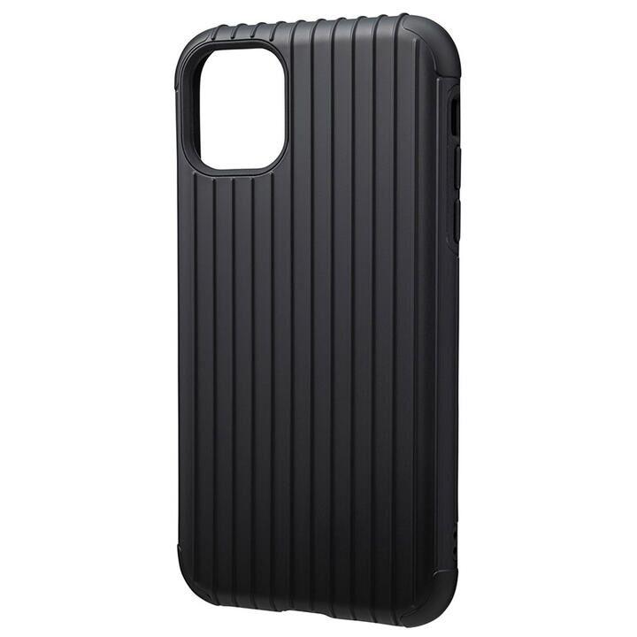 iPhone 11 ケース GRAMAS COLORS Rib ハイブリッドシェルケース ブラック iPhone 11_0