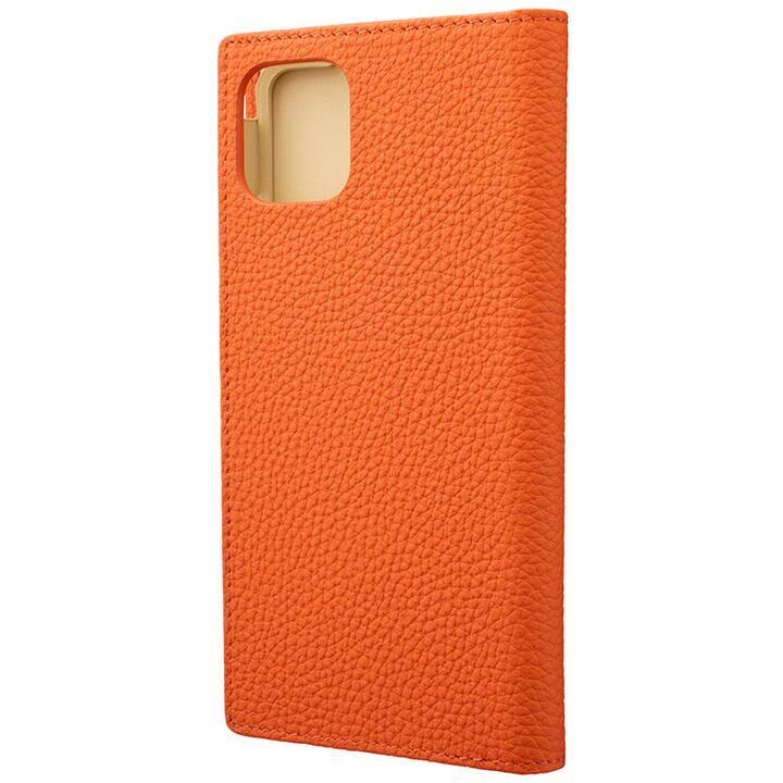 iPhone 11 Pro Max ケース GRAMAS Shrunken-calf レザー手帳型ケース オレンジ iPhone 11 Pro Max_0