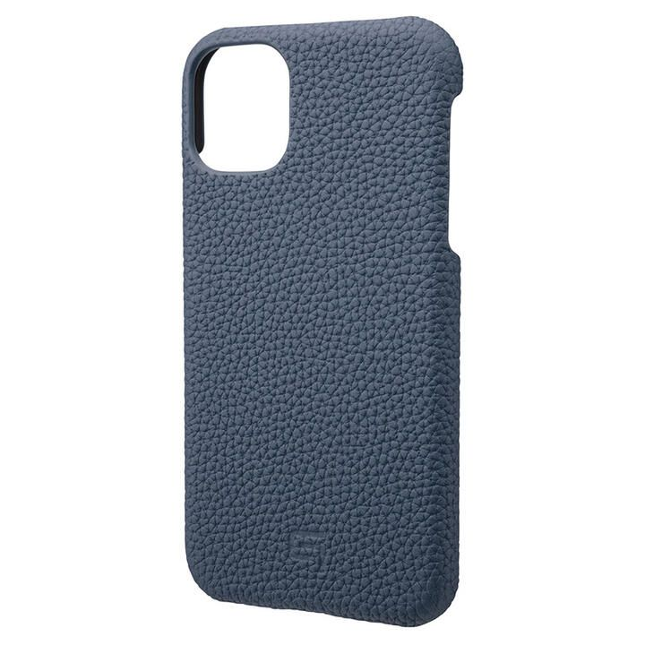 iPhone 11 ケース GRAMAS Shrunken-calf レザー背面ケース ネイビー iPhone 11_0