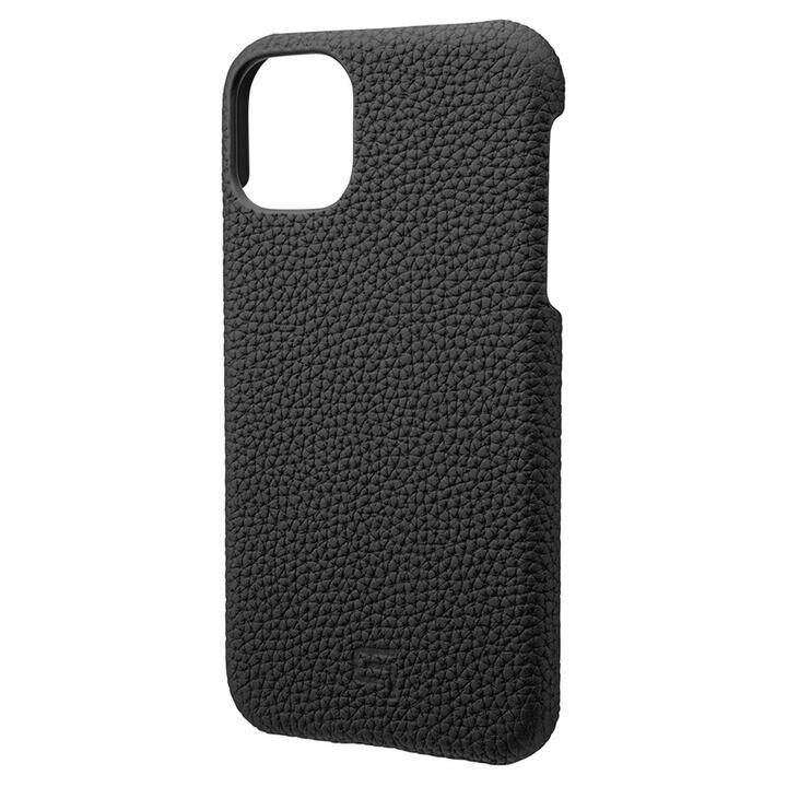 iPhone 11 ケース GRAMAS Shrunken-calf レザー背面ケース ブラック iPhone 11_0