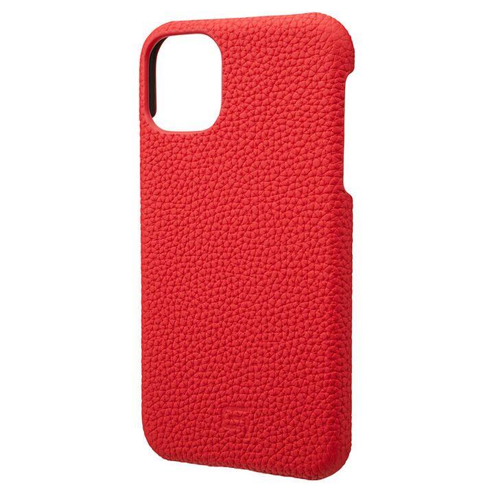 iPhone 11 ケース GRAMAS Shrunken-calf レザー背面ケース レッド iPhone 11_0