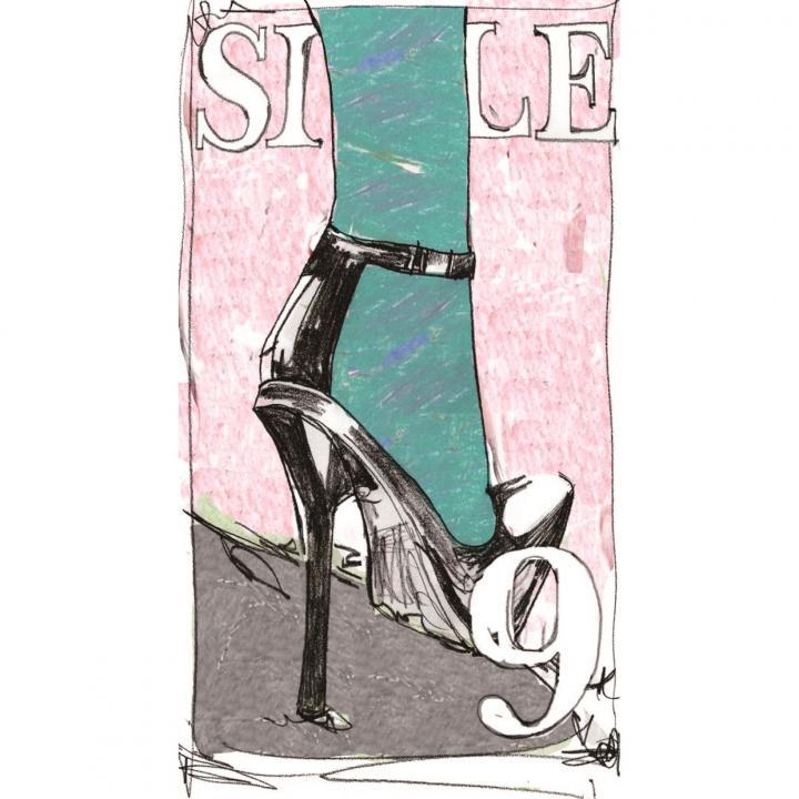 何度でも貼って剥がせる液晶クリーナー SCREEN CREANERS (high heels)_0