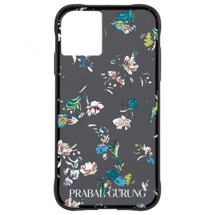 iPhone 11 ケース Case-Mate PRABAL GURUNG ケース Brush Stroke Black Floral iPhone 11_0