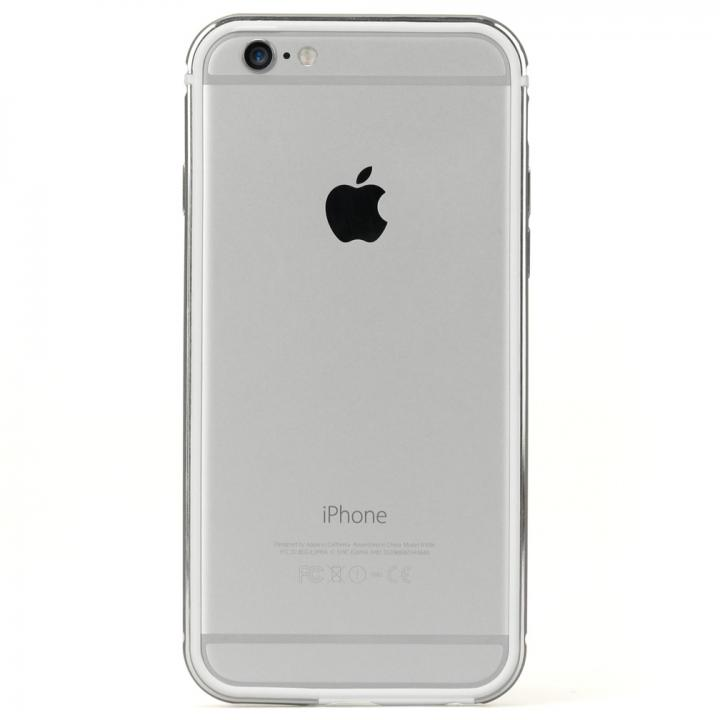 iPhone6s ケース FRAME x FRAMEバンパーケース シルバー/ホワイト iPhone 6s/6_0