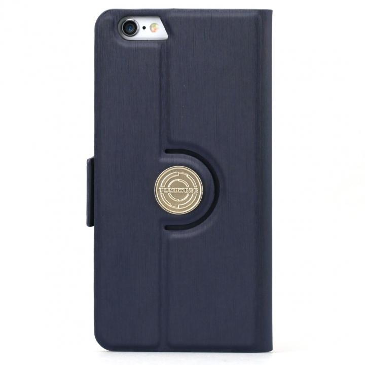 iPhone6s ケース TUNEWEAR TUNEFOLIO 360 手帳型ケース ダークブルー iPhone 6s/6_0