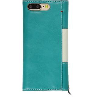 【iPhone8 Plus/7 Plusケース】PUレザー手帳型リボンケース Ruban ターコイズ iPhone 8 Plus/7 Plus_1