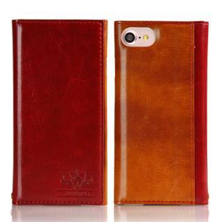 FLAMINGO PUレザー手帳型ケース レッド iPhone 7