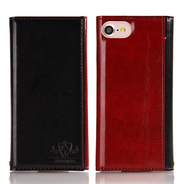 iPhone8/7 ケース FLAMINGO PUレザー手帳型ケース ブラック iPhone 8/7_0