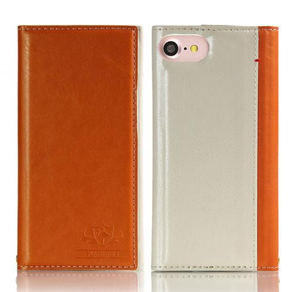 iPhone8/7 ケース FLAMINGO PUレザー手帳型ケース オレンジ iPhone 8/7_0
