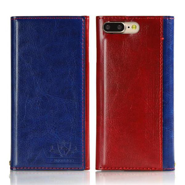 iPhone8 Plus/7 Plus ケース FLAMINGO PUレザー手帳型ケース ブルー iPhone 8 Plus/7 Plus_0
