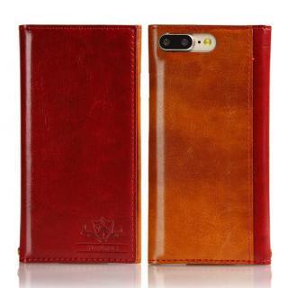 iPhone8 Plus/7 Plus ケース FLAMINGO PUレザー手帳型ケース レッド iPhone 8 Plus/7 Plus