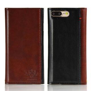 FLAMINGO PUレザー手帳型ケース ブラウン iPhone 8 Plus/7 Plus