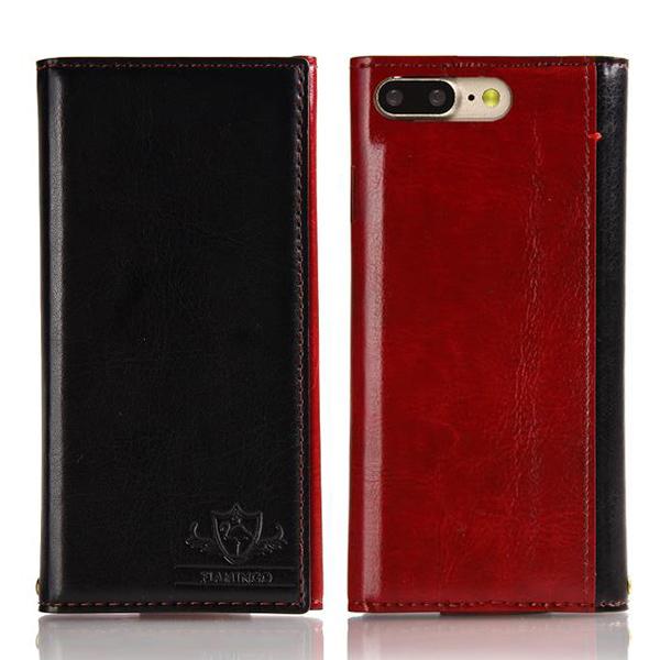 iPhone8 Plus/7 Plus ケース FLAMINGO PUレザー手帳型ケース ブラック iPhone 8 Plus/7 Plus_0