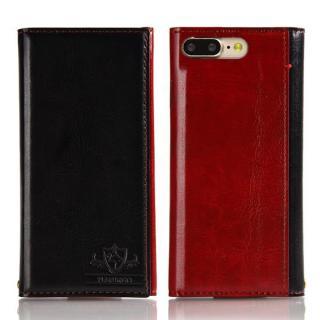 FLAMINGO PUレザー手帳型ケース ブラック iPhone 8 Plus/7 Plus【9月下旬】