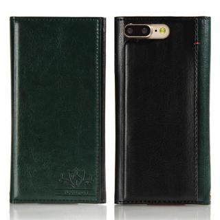iPhone8 Plus/7 Plus ケース FLAMINGO PUレザー手帳型ケース グリーン iPhone 8 Plus/7 Plus