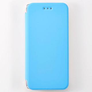 FlipShell 背面クリア手帳型ケース ブルー iPhone 7