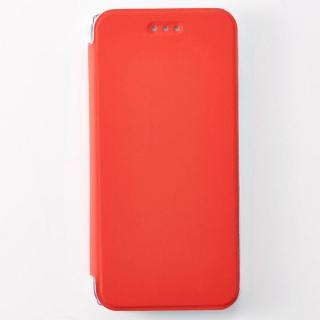 FlipShell 背面クリア手帳型ケース レッド iPhone 7