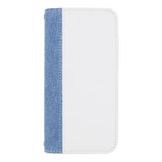 EDWIN 手帳型ケース センターデニム ホワイト iPhone 7