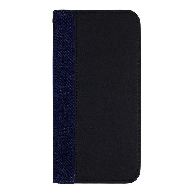 【iPhone7ケース】EDWIN 手帳型ケース センターデニム ブラック iPhone 7_0