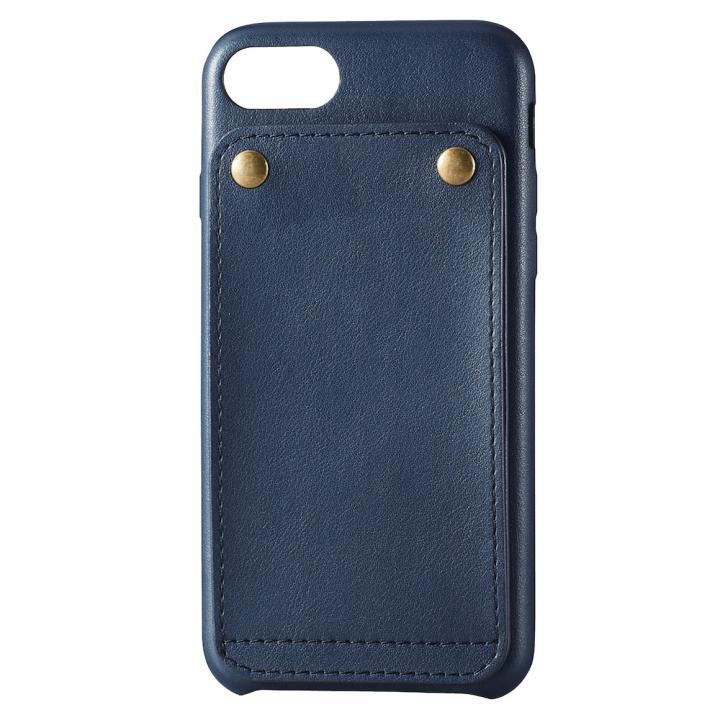 iPhone7 ケース ソフトレザー縦開きケース ブルー iPhone 7_0