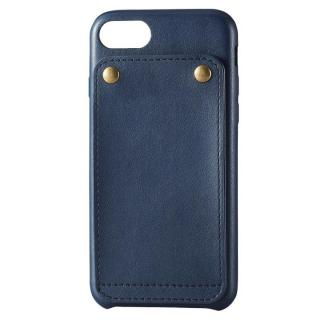 ソフトレザー縦開きケース ブルー iPhone 7