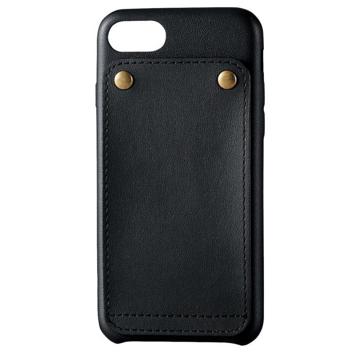 【iPhone7ケース】ソフトレザー縦開きケース ブラック iPhone 7_0