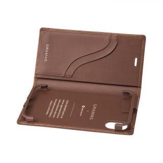 【iPhone XS/Xケース】GRAMAS TOIANO フルレザー手帳型ケース ダークブラウン iPhone XS/X_3