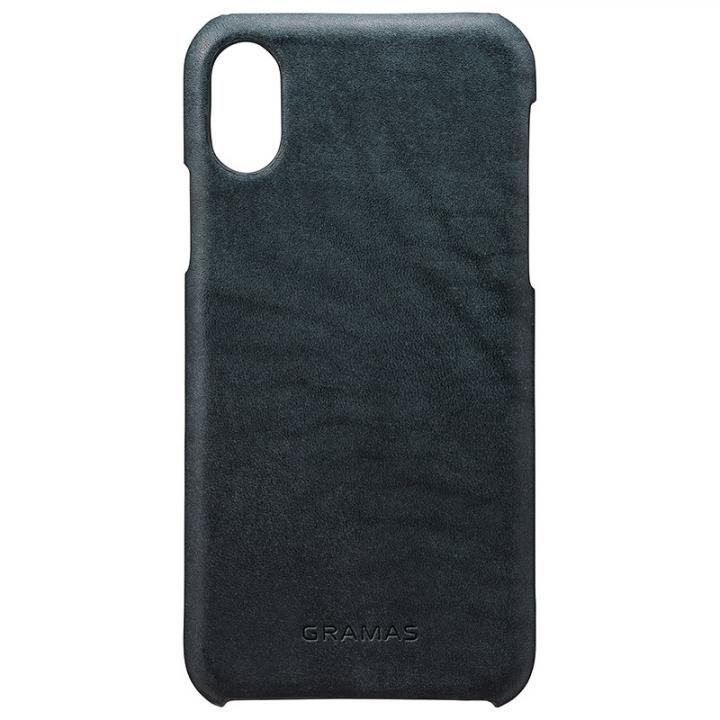 GRAMAS TOIANO レザーケース ダークネイビー iPhone X