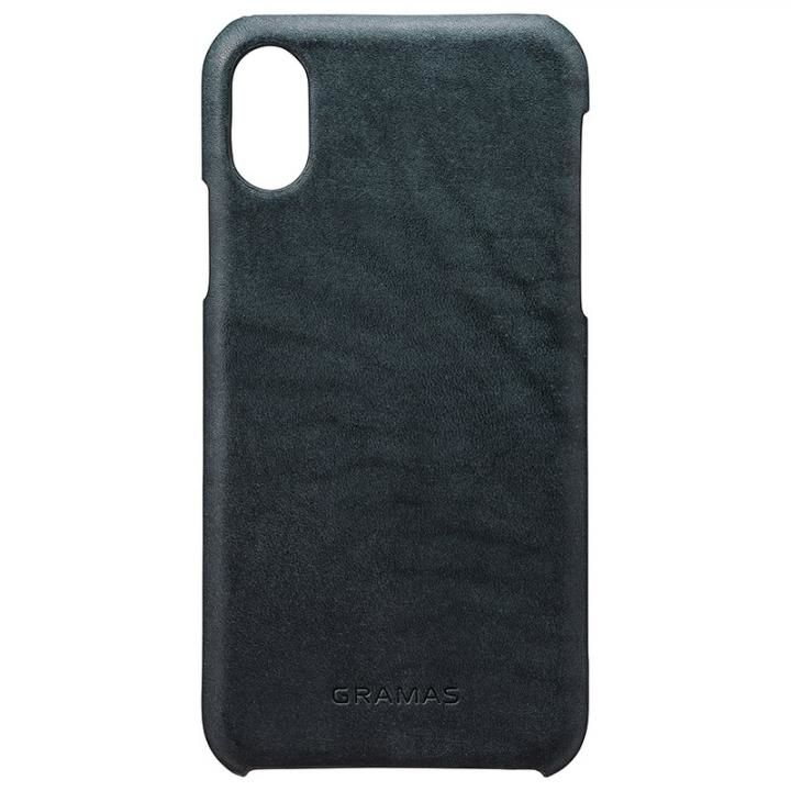 【iPhone XS/Xケース】GRAMAS TOIANO レザーケース ダークネイビー iPhone XS/X_0