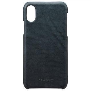 【iPhone X ケース】GRAMAS TOIANO レザーケース ダークネイビー iPhone X