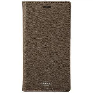 【iPhone XS/Xケース】GRAMAS COLORS サフィアーノ調PUレザー手帳型ケース EURO Passione ブラウン iPhone XS/X