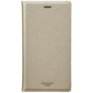 GRAMAS COLORS サフィアーノ調PUレザー手帳型ケース EURO Passione シルバー iPhone X