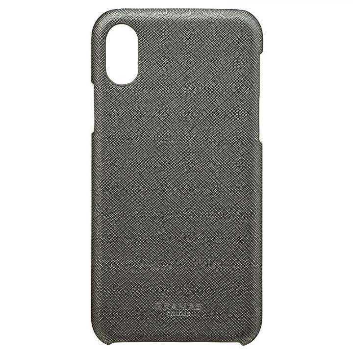 iPhone XS/X ケース GRAMAS COLORS サフィアーノ調PUレザーケース EURO Passione ガンメタル iPhone XS/X_0
