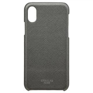 iPhone XS/X ケース GRAMAS COLORS サフィアーノ調PUレザーケース EURO Passione ガンメタル iPhone XS/X