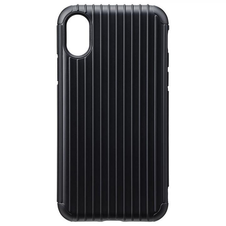 【iPhone XS/Xケース】GRAMAS COLORS ハイブリッドケース Rib ブラック iPhone XS/X_0