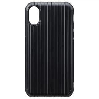 iPhone XS/X ケース GRAMAS COLORS ハイブリッドケース Rib ブラック iPhone XS/X