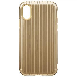iPhone XS/X ケース GRAMAS COLORS ハイブリッドケース Rib ゴールド iPhone XS/X