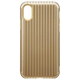GRAMAS COLORS ハイブリッドケース Rib ゴールド iPhone XS/X