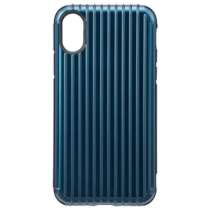 iPhone XS/X ケース GRAMAS COLORS ハイブリッドケース Rib ネイビ iPhone XS/X【9月中旬】_0