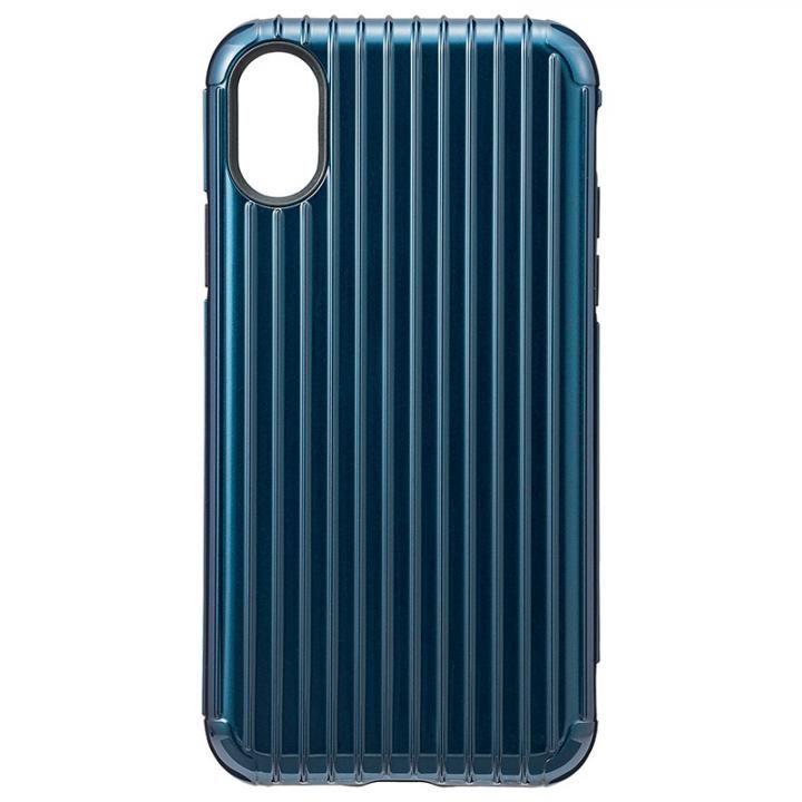 【iPhone XS/Xケース】GRAMAS COLORS ハイブリッドケース Rib ネイビ iPhone XS/X【2019年1月中旬】_0
