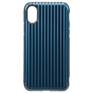 【iPhone X ケース】GRAMAS COLORS ハイブリッドケース Rib ネイビ iPhone X
