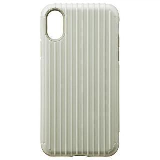 GRAMAS COLORS ハイブリッドケース Rib ホワイト iPhone XS/X