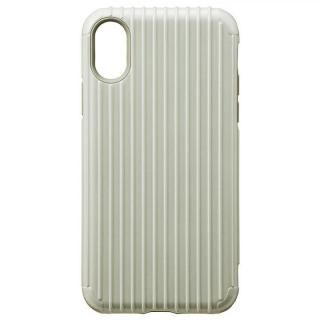 iPhone XS/X ケース GRAMAS COLORS ハイブリッドケース Rib ホワイト iPhone XS/X